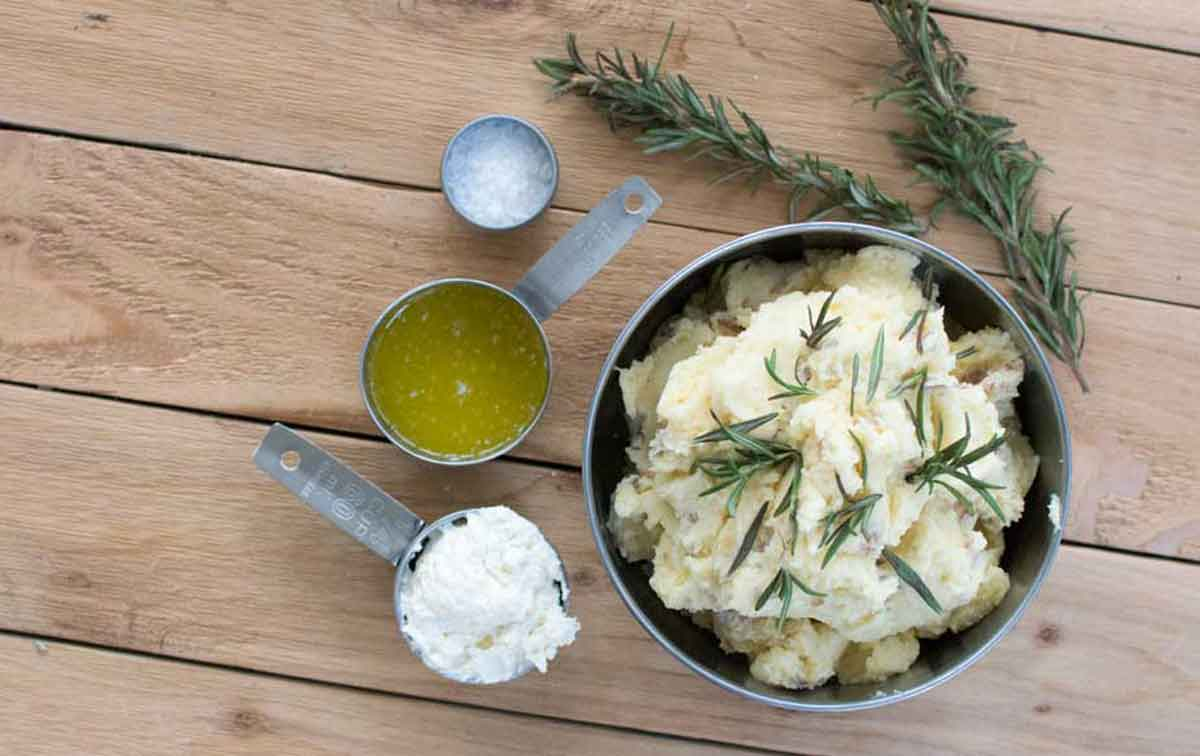 Cannabis and rosemary infused mashed potato recipe