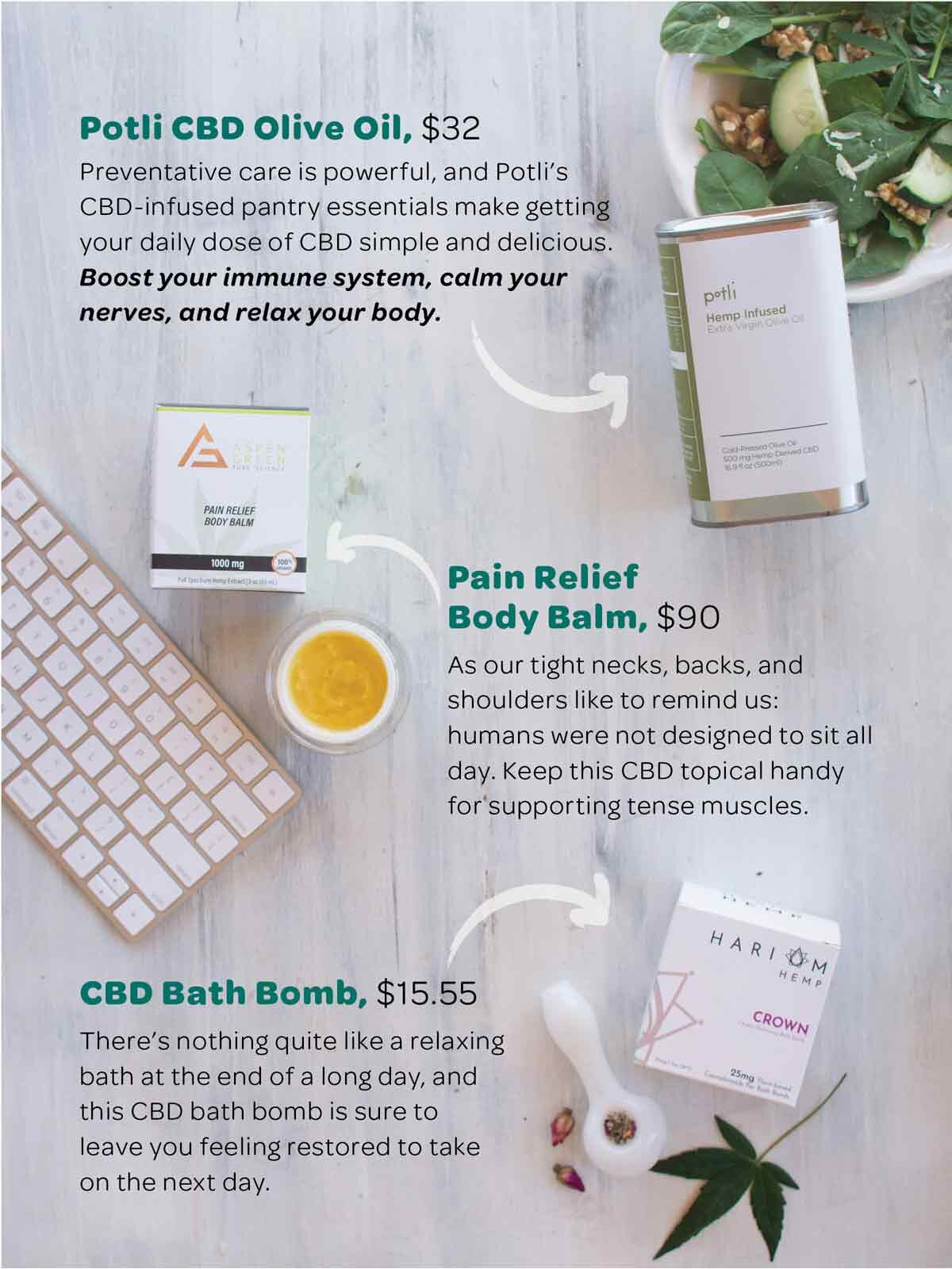 Three CBD product recommendations for staying ahead of the crash during your workday