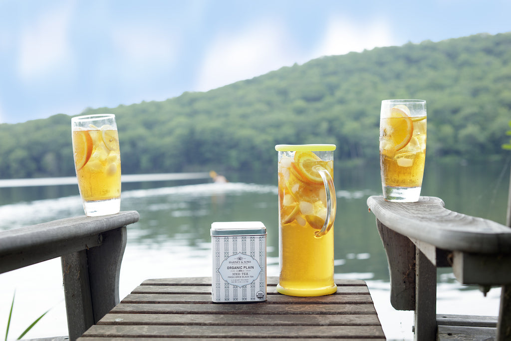 Iced tea by the lake
