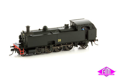 SMR 10 Class Locomotive, 20 NO MARKINGS, BLACK - RED, 1955 - 1971