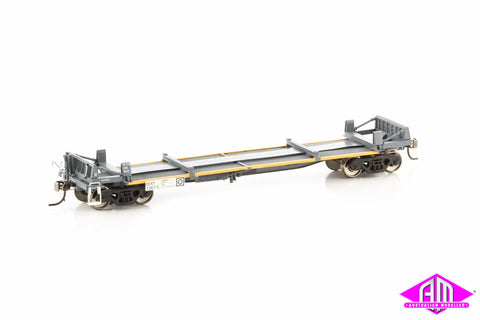 RKKY 7367-C 3 Platform Steel Wagon National Rail Grey / Marigold Pack 10