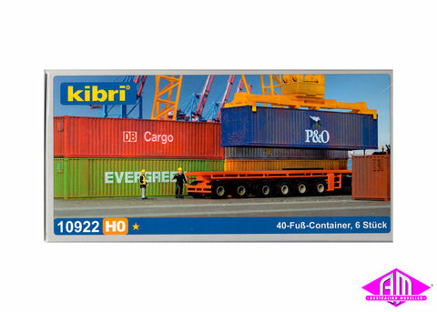 10922 40' Containers 6pc