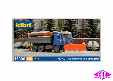 15006 Mercedes Actros Truck With Snow Plough