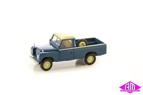 Land Rover 109 Green Blue 1/87 Scale