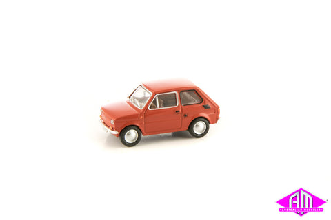 Fiat 126 Red 1/87 Scale