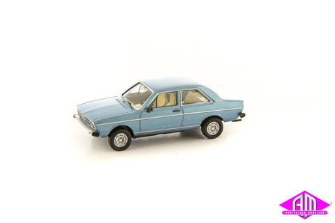 Audi 80 Metallic Blue 1/87 Scale