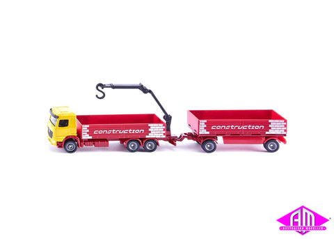 Construction truck and trailer 1:87