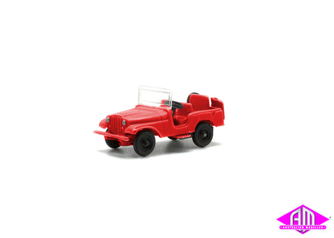 Jeep Red HO Scale