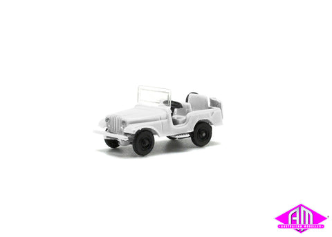 Jeep White HO Scale