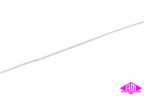 "AL-29223 Silver Chain 12"" - 27 Links per inch"