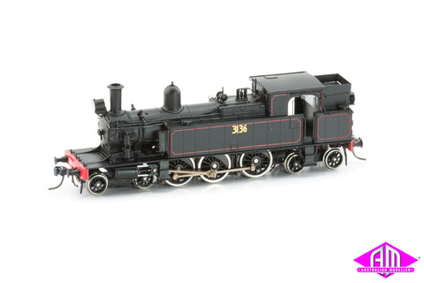 C30 Class Tank Locomotive 3136 Solid Steel Bunker With Headlight