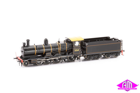 NSWGR 32 Class Locomotive 3264 Centenary lined black with bogie tender
