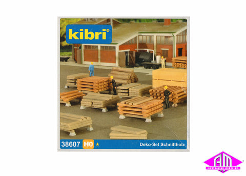 38607 Sawn Timber Deco Set