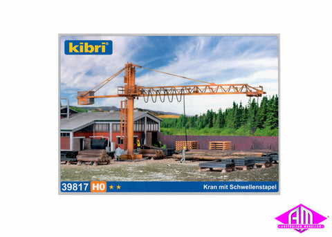 39817 Crane With Timber Yard