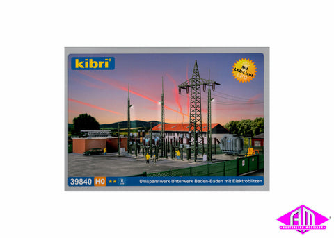 39840 Electrical Substation With Lighting