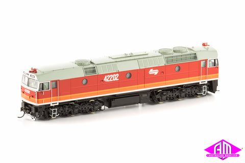 422 Class Locomotive 42202 Candy (white logos & small front numbers)