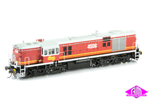 O Scale 45 Class 4506 Candy livery with Light Grey Roof, Yellow L7, twin marker lights & buffers