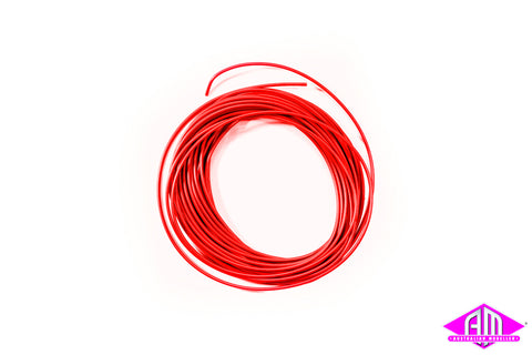 Super thin cable, 0.5mm diameter, AWG36, 10m bundle, red colour 51943