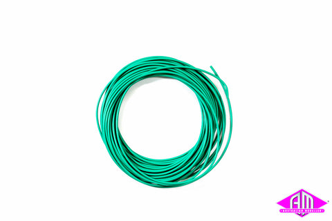 Super thin cable, 0.5mm diameter, AWG36, 10m bundle, green colour 51945