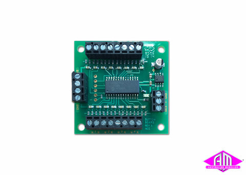 Button Board for Switch-8 Mk2 DCC Accessory Decoder for Stall Motor Machines