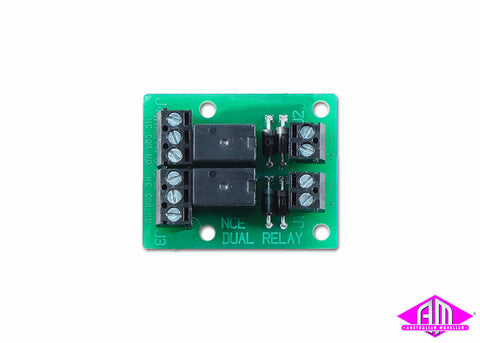 Dual Relay SPDT DPDT for DCC Switch-It and Switch8 Accessory Decoders
