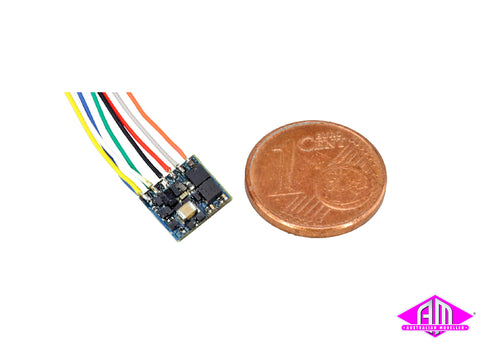 LokPilot Fx Nano, Function decoder MM/DCC, NEM652 8-pin interface with Wire harness 53620