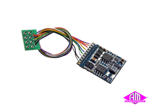 LokPilot V4.0, multiprotocol decoder (MM/DCC/SX), with 8-pin plug according to NEM652 54610