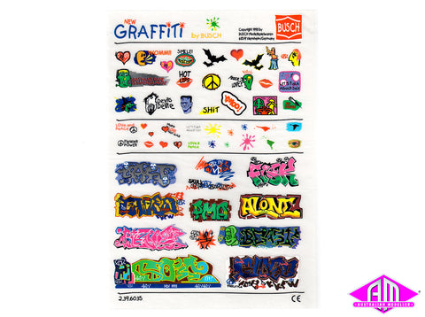 Rub On Graffiti decal set 6035