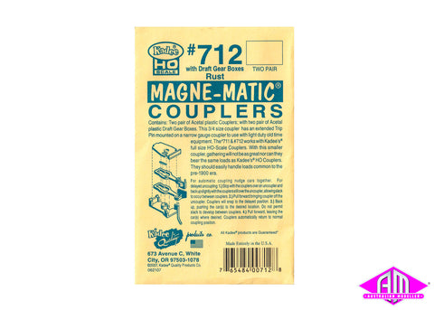 KD-712 #712 3/4 Size Old Time Coupler - Rust (2pr)