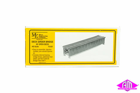 50' Deck girder bridge HO code 83