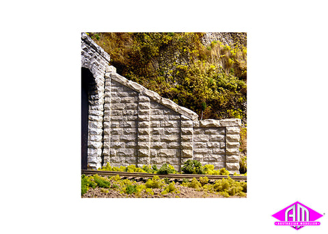 Cut Stone Sloped Tunnel Wall Abutment 8402