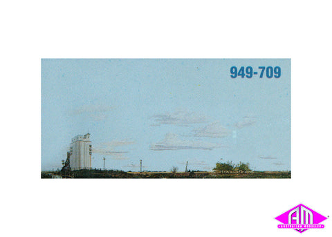 "Background Scene ""Prairie / Grain Elevator"""