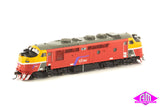 A Class Locomotive A66 V/Line Pass MK3 Red/Yellow/Grey A-12