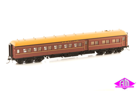 12 Wheel Passenger Car, Dining Car AB 91 Indian Red