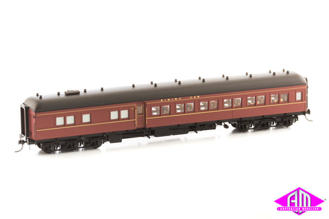 12 Wheel Passenger Car, Dining Car AB 92 Indian Red