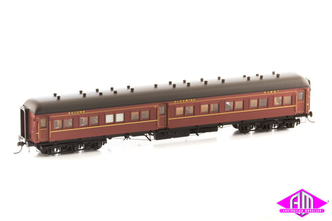 12 Wheel Passenger Car, Composite Sleeper Car ACS 925 Indian Red