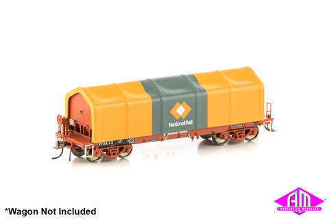 Tarpaulin Cover National Rail Orange/Grey Version 1 4 Pack AMA-3