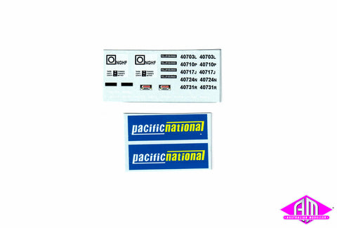ARK-DH12PN NGHF Pacific National decal