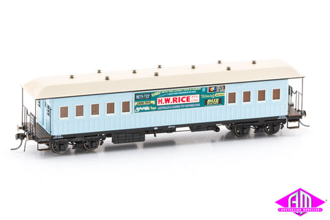NSWGR End Platform Car H.W. Rice Blue Early 64' FO027 (Single Car)