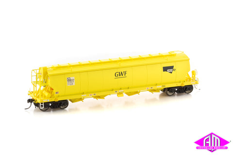 Grain Hopper SSR BGSY STANDARD GAUGE, SSR YELLOW circa 2014 - CURRENT (BGS08) 3pk