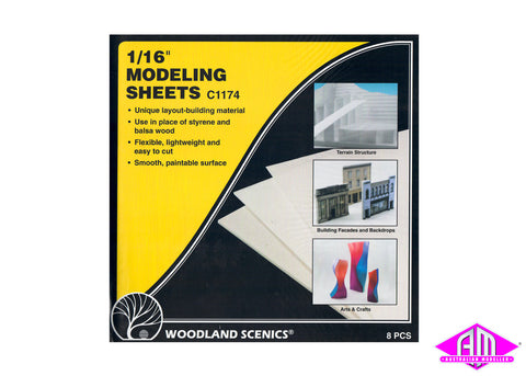 Modeling Sheets 1/16 in 8pc