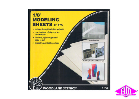 Modeling Sheets 1/8 in 4pc