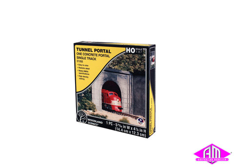 Single Portal Concrete - HO Scale (1pc)