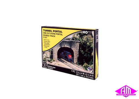 Double Portal Cut Stone - HO Scale (1pc)