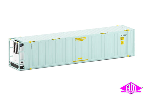 "46'6"" Reefer Container Toll V3 Light Blue No Logo Twin Pack CON-105"