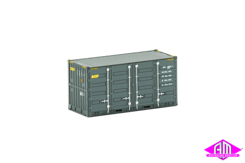 20' Side Door Container SCF grey Twin Pack CON-112