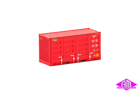 20' Side Door Container Patrick Red Twin Pack CON-119