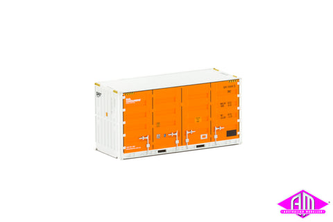 20' Side Door Container SCF orange & white Twin Pack CON-120