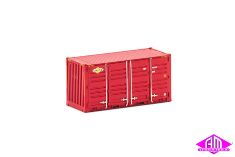 20' Side Door Container Linfox red Twin Pack CON-124