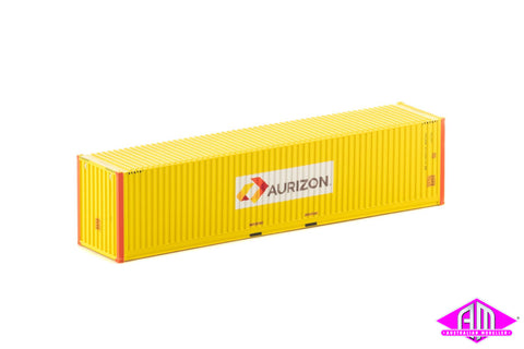 40 Foot Container Aurizon V1 Yellow with Orange Posts - Twin Pack CON-127